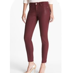Ted Baker Wax Coated Skinny Jeans